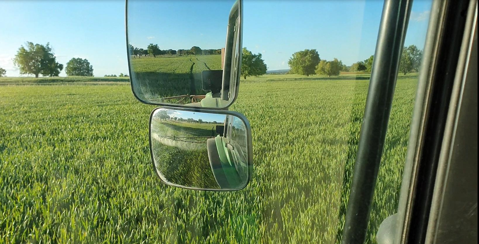 View from the cerealist's tractor