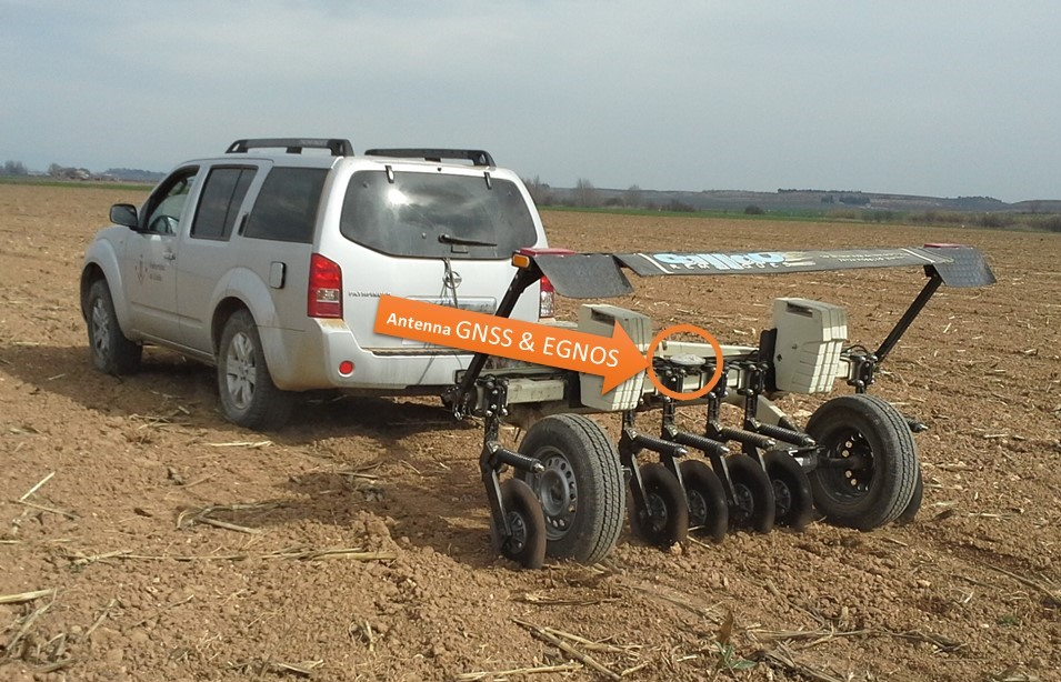 Veris 3100 Soil EC Surveyor of the University of Lleida with GNSS and EGNOS receiver