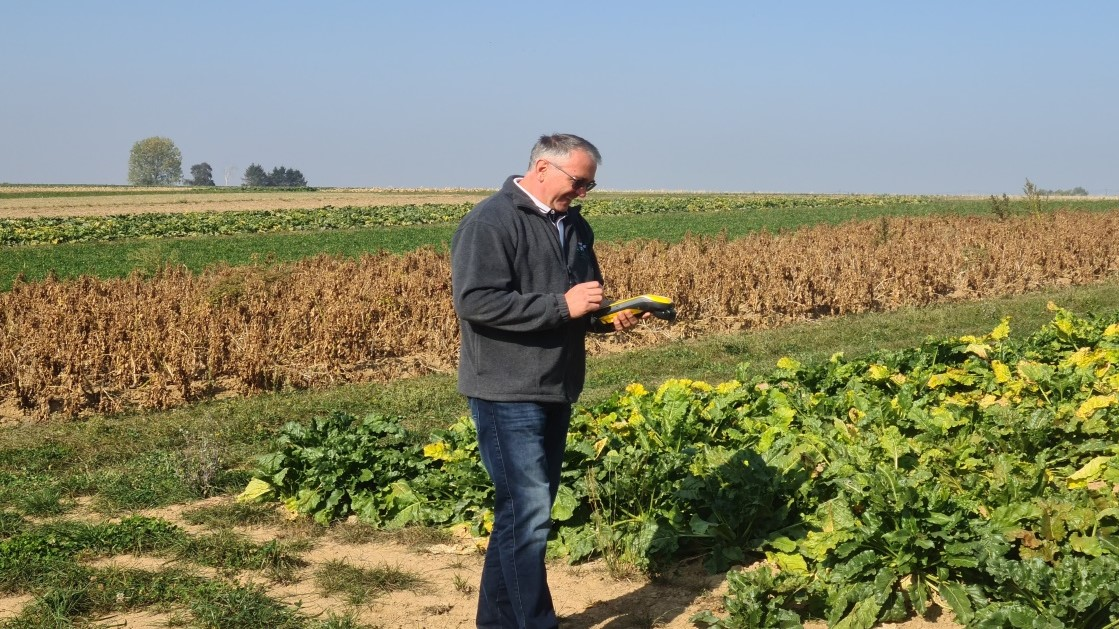 Farmer from The Walloon Agricultural Research Centre using EGNOS