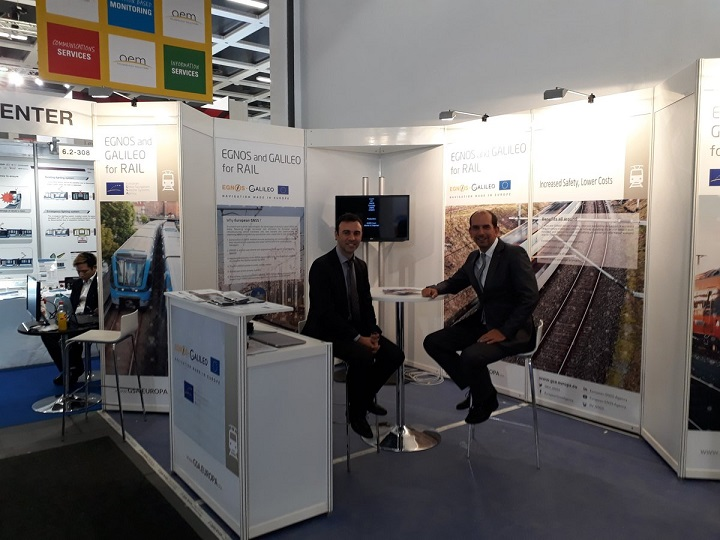 Innotrans stand for GNSS Programmes