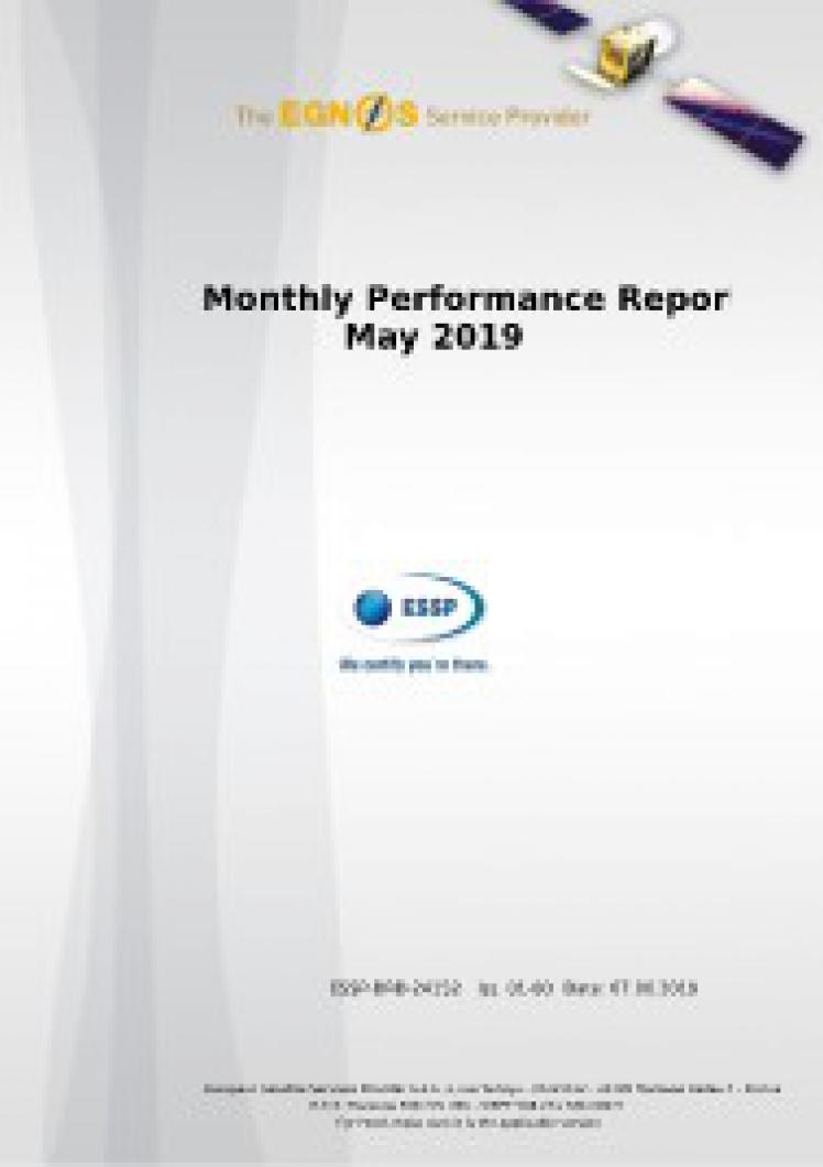 Monthly Performance Report - May 2019