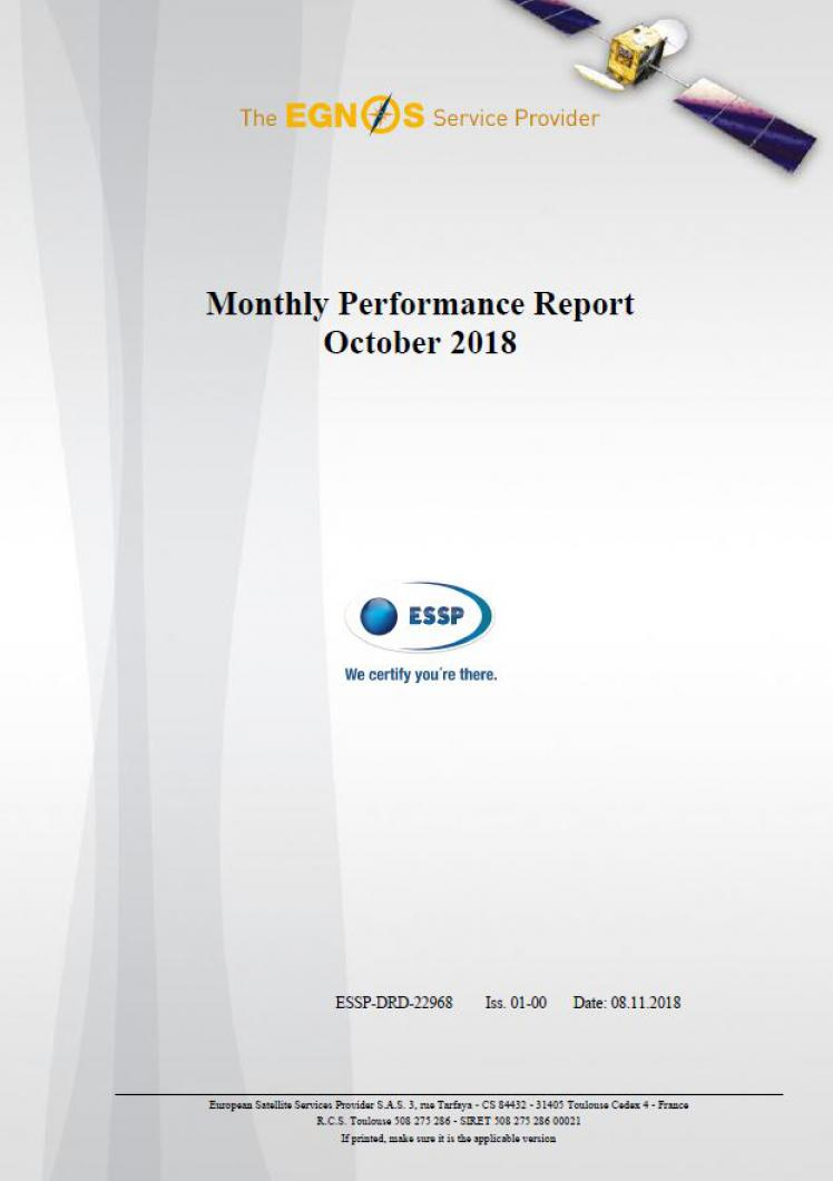 EGNOS Monthly Performance Report October 2018