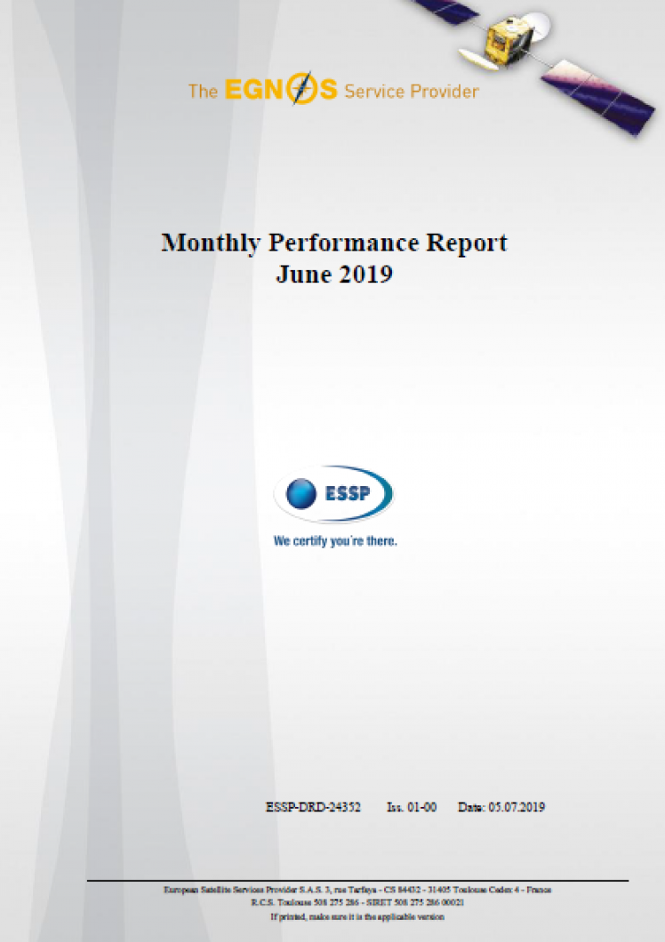 Monthly Performance Report June 2019