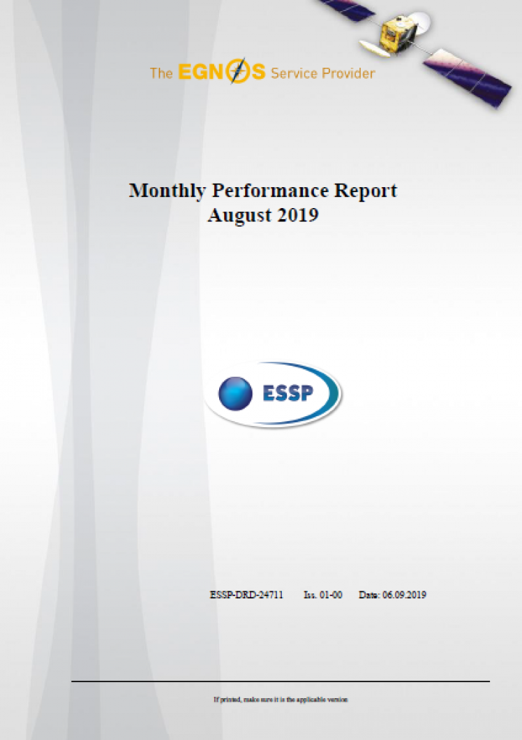 Monthly Performance Report August 2019 cover
