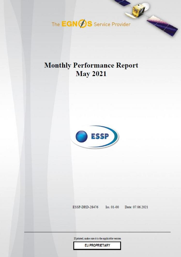 121 - Monthly Performance Report - May 2021 cover