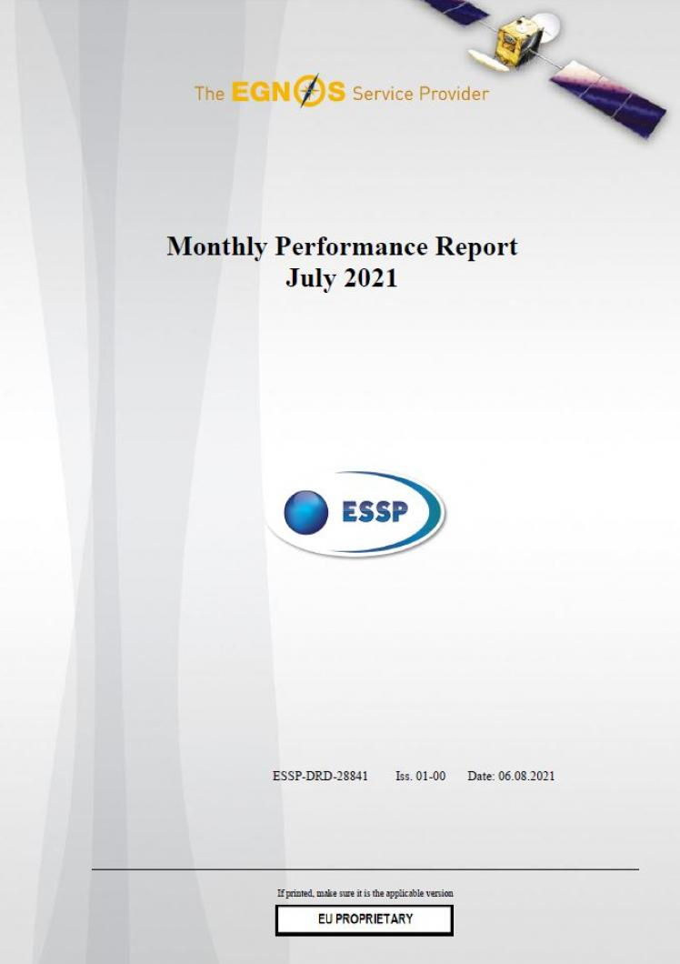 123 - Monthly Performance Report - July 2021 cover