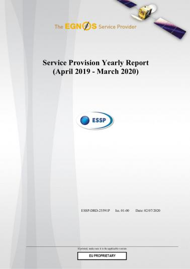 Cover EGNOS Service Provision Yearly Report 2019 -2020