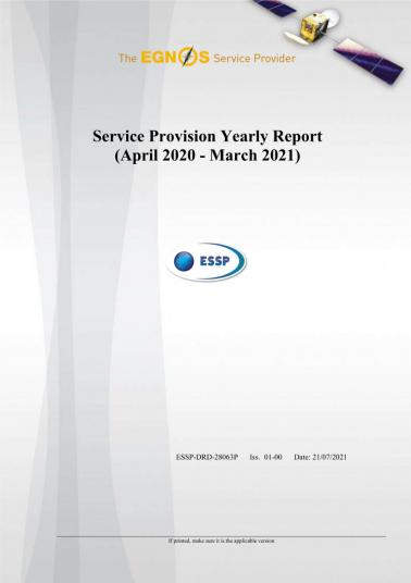 EGNOS Service Provision Yearly Report 2020 - 2021 cover