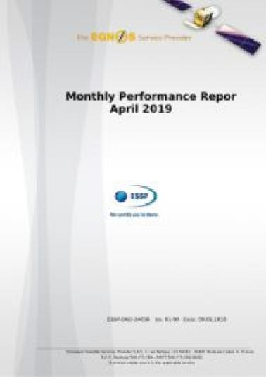 EGNOS Monthly Performance Report April Cover 2019