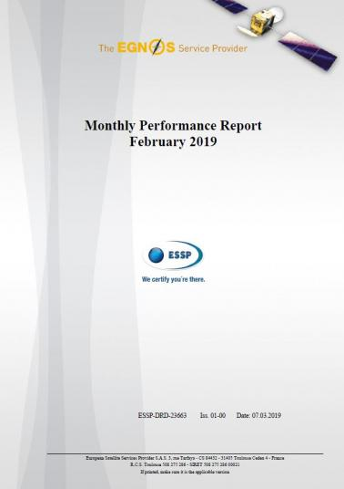 EGNOS Monthly Performance Report February 2019