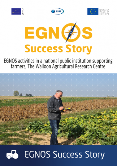 EGNOS activities in a national public institution supporting farmers, The Walloon Agricultural Research Centre