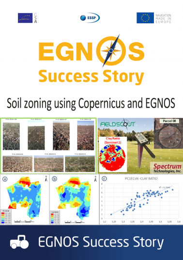 Soil zoning using Copernicus and EGNOS