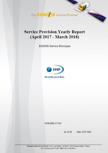 Cover EGNOS Yearly Report