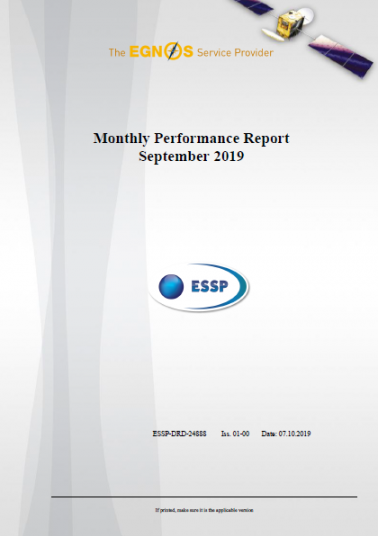 Monthly Performance Report September 2019 cover