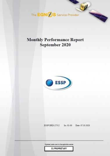 113 - Monthly Performance Report - September 2020 cover