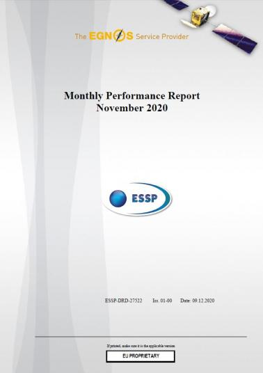 115 - Monthly Performance Report - November 2020 cover