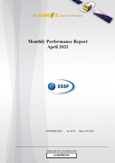 120 - Monthly Performance Report - April 2021 cover
