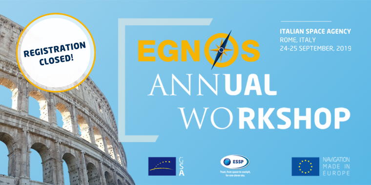 EGNOS Annual Workshop logo with colosseum