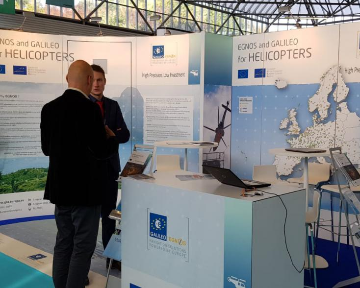 EGNOS stand at Helitech