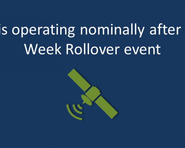 EGNOS remained unaffected after the GPS Week Rollover event