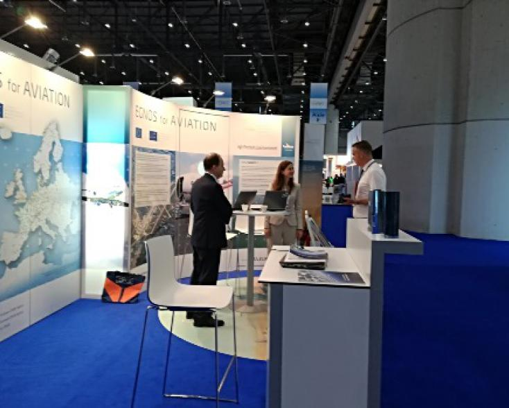 EGNOS stan at EBACE
