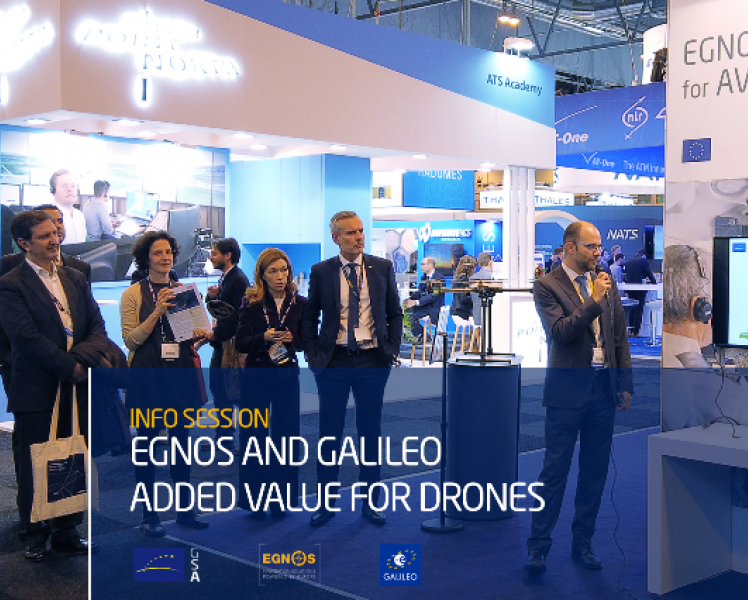 EGNSS offers an added value for drones
