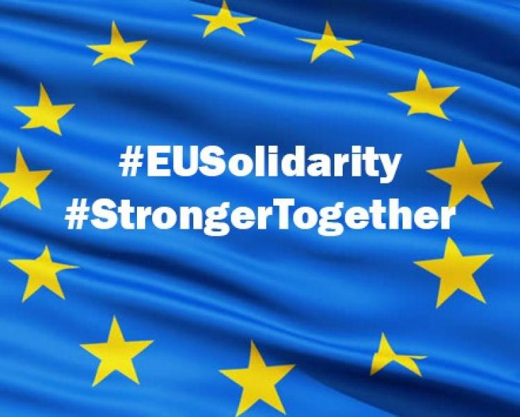 Europe flag. #EUSolidarity #StrongerTogether